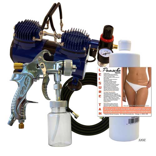Paasche DA400T Deluxe Quick Application Tanning Set