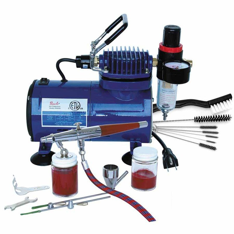 Paasche VL-100D Double Action Airbrush and Compressor Package