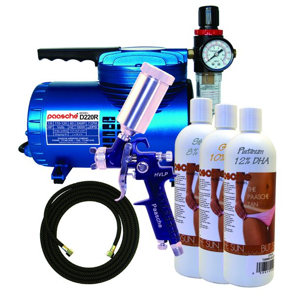 Paasche DT-800F Tanning Kit with 500T Spray Gun