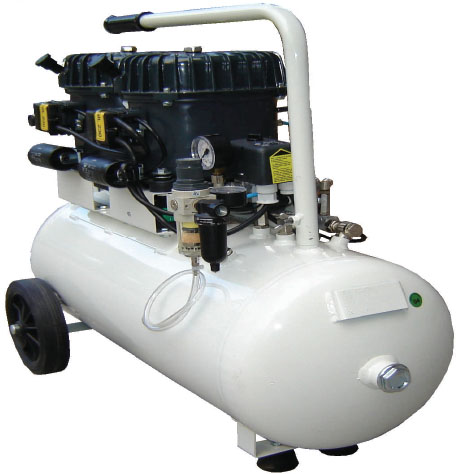 Silentaire Val-Air 100-50 AL 2x1/2 HP Oil Lubricated Compressor