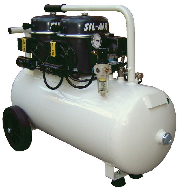 Silentaire Sil-Air 100-50 2x1/2 HP Oil Lubricated Compressor